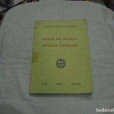 Libros de segunda mano: BOLETIN DEL INSTITUTO DE ESTUDIOS ASTURIANOS.Nº 44.-AÑO XV OVIEDO 1961.LA CIUDAD DE OVIEDO Y SU CONC. Lote 222807855