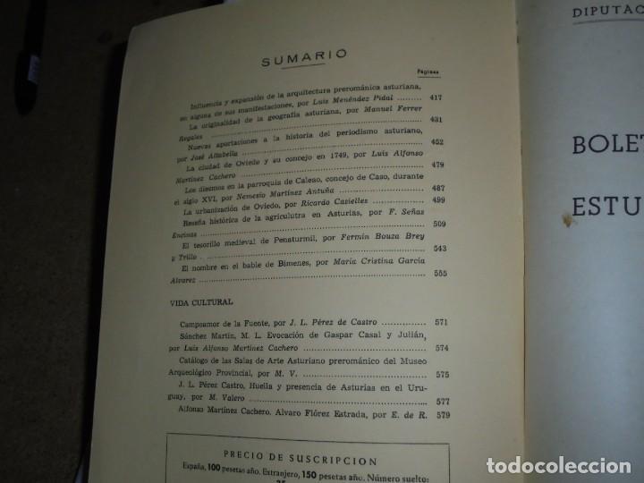 Libros de segunda mano: BOLETIN DEL INSTITUTO DE ESTUDIOS ASTURIANOS.Nº 44.-AÑO XV OVIEDO 1961.LA CIUDAD DE OVIEDO Y SU CONC - Foto 4 - 222807855