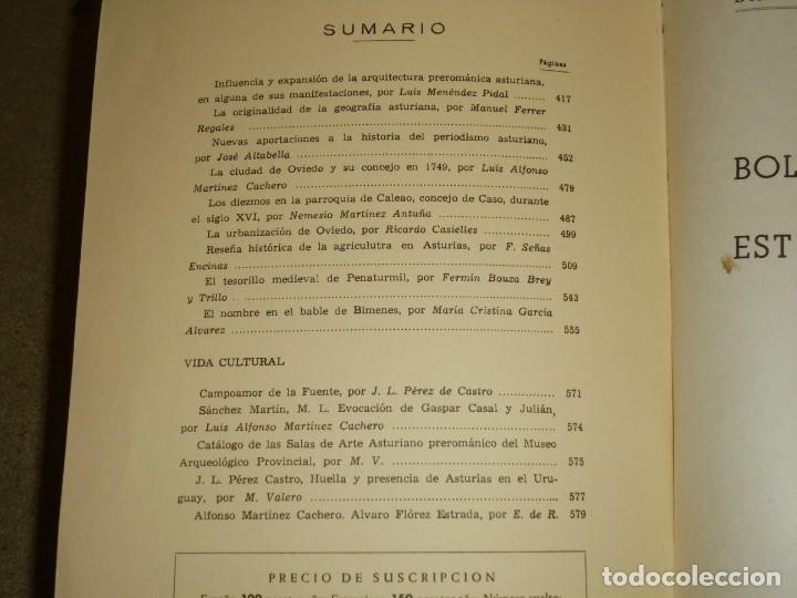 Libros de segunda mano: BOLETIN DEL INSTITUTO DE ESTUDIOS ASTURIANOS.Nº 44.-AÑO XV OVIEDO 1961.LA CIUDAD DE OVIEDO Y SU CONC - Foto 5 - 222807855