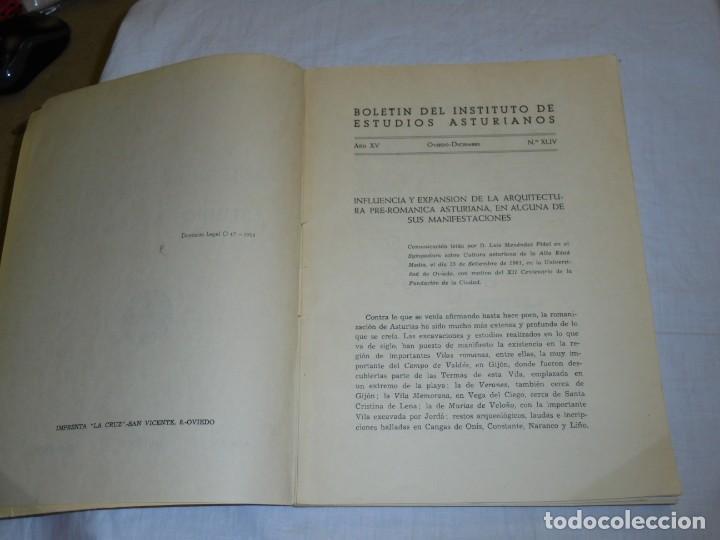 Libros de segunda mano: BOLETIN DEL INSTITUTO DE ESTUDIOS ASTURIANOS.Nº 44.-AÑO XV OVIEDO 1961.LA CIUDAD DE OVIEDO Y SU CONC - Foto 6 - 222807855
