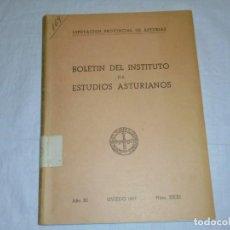 Libros de segunda mano: BOLETIN DEL INSTITUTO DE ESTUDIOS ASTURIANOS.Nº XXXI.-OVIEDO 1957.-AÑO XI.CAMPANAS DE ASTURIAS/BRUJA. Lote 222808727