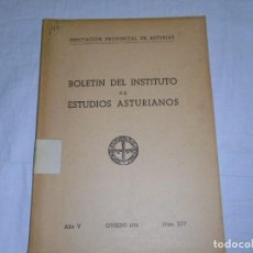 Libros de segunda mano: BOLETIN DEL INSTITUTO DE ESTUDIOS ASTURIANOS.Nº XIV.-OVIEDO 1951.-AÑO V.MUROS DE NALON/TROGLODYTES Y. Lote 222809273