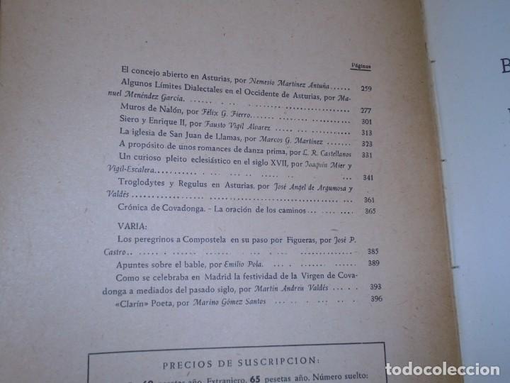 Libros de segunda mano: BOLETIN DEL INSTITUTO DE ESTUDIOS ASTURIANOS.Nº XIV.-OVIEDO 1951.-AÑO V.MUROS DE NALON/TROGLODYTES Y - Foto 2 - 222809273