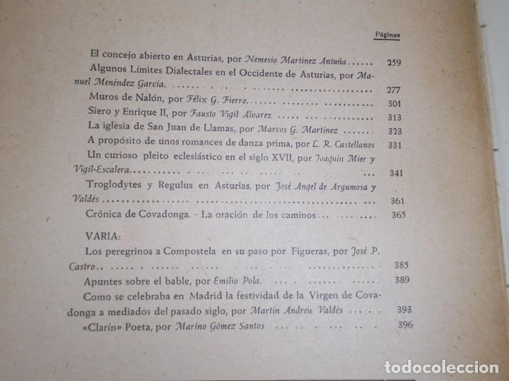 Libros de segunda mano: BOLETIN DEL INSTITUTO DE ESTUDIOS ASTURIANOS.Nº XIV.-OVIEDO 1951.-AÑO V.MUROS DE NALON/TROGLODYTES Y - Foto 3 - 222809273