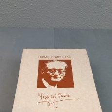 Libros de segunda mano: OBRAS COMPLETAS VICENTE RISCO, EDITORIAL GALAXIA. TOMO 7.. Lote 222863386