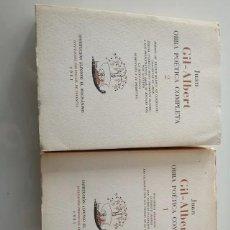 Libros de segunda mano: OBRA POÉTICA COMPLETA JUAN GIL ALBERT. Lote 223228766