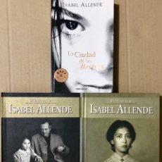 Libros de segunda mano: LOTE 3 LIBROS ISABEL ALLENDE TAPA DURA - HIJA DE LA FORTUNA LA CASA DE LOS ESPIRITUS CIUDAD BESTIAS. Lote 223417156
