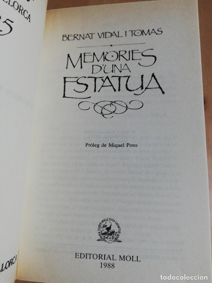 Libros de segunda mano: MEMÒRIES DUNA ESTÀTUA (BERNAT VIDAL I TOMÀS) BIBLIOTECA BÀSICA DE MALLORCA - Foto 2 - 224001938