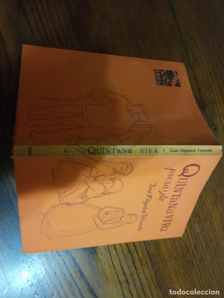 Libros de segunda mano: Quintana viva- Prosas de Xosé Filgueira Valverde. - Foto 2 - 225624350