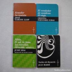 Libros de segunda mano: NOCHES DE BOCACCIO / EL VENDEDOR DE SOMBRAS. EL VIAJE / ECUADOR LA TENISTA / NILDA. EL SOL, LA LUNA.. Lote 225719905