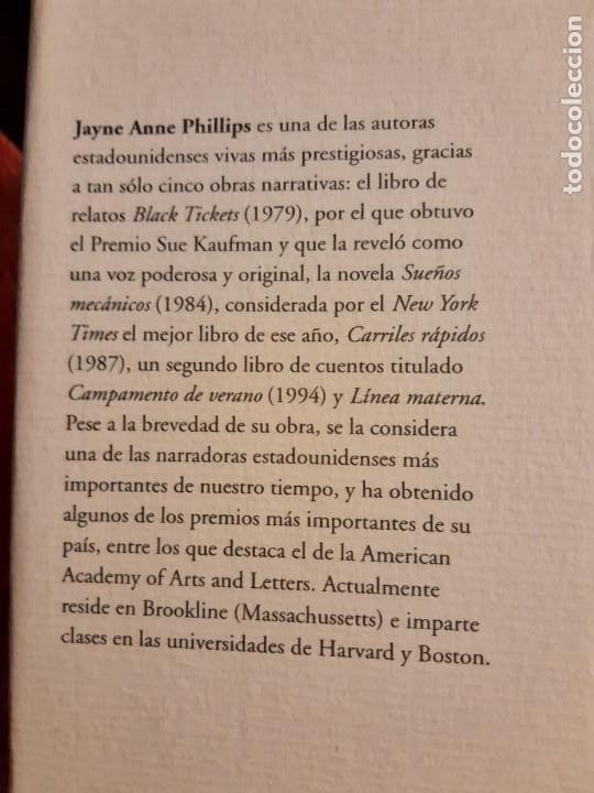 Libros de segunda mano: Línea materna Jayne Anne Phillips - Foto 4 - 226121356
