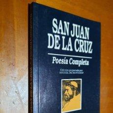 Libros de segunda mano: SAN JUAN DE LA CRUZ. POESÍA COMPLETA. MIGUEL DE SANTIAGO. EDICIONES 29. RÚSTICA. BUEN ESTADO. Lote 226637715
