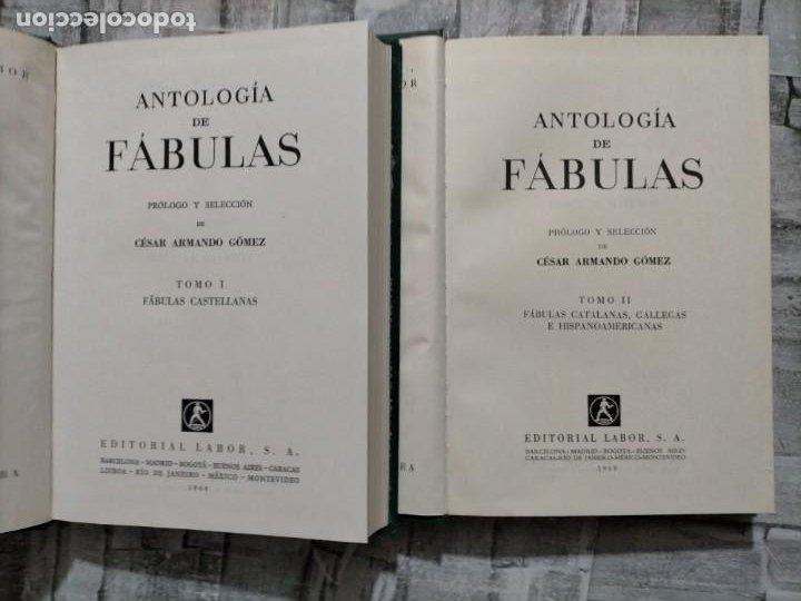 ANTOLOGIA DE FABULUS ANTOLOGIAS LABOR CESAR ARMANDO GOMES FABULAS CASTELLANAS T I T II (Libros de Segunda Mano (posteriores a 1936) - Literatura - Narrativa - Otros)