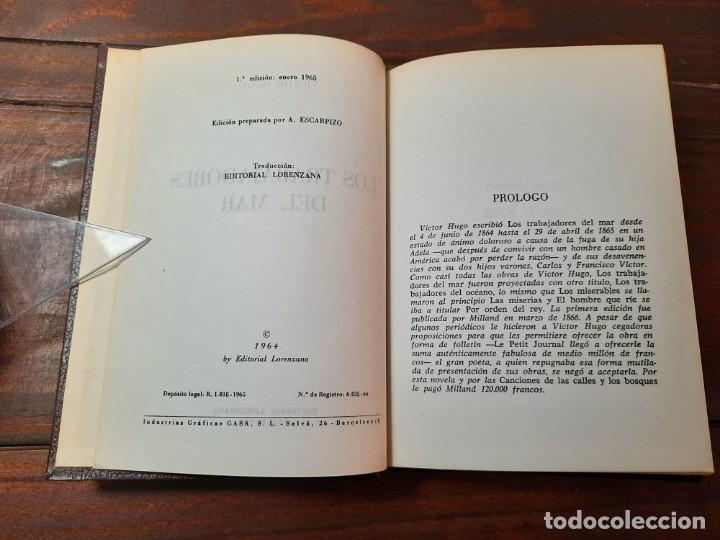 Libros de segunda mano: LOS TRABAJADORES DEL MAR - VICTOR HUGO - EDITORIAL LORENZANA, 1965, 1ª EDICION, BARCELONA - Foto 6 - 228248190