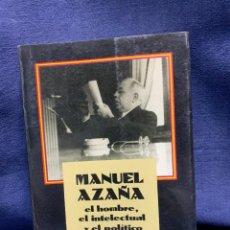 Libros de segunda mano: MANUEL AZAÑA EL HOMBRE EL INTELECTUAL Y EL POLITICO JOSÉ PEÑA GONZÁLEZ ALCALÁ DE HENARES 1991 21X14C. Lote 228344955
