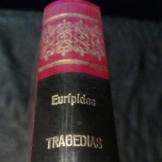 Libros de segunda mano: TRAGEDIAS - EURIPIDES - OBRAS INMORTALES - EDITORIAL BRUGUERA 1 EDICIÓN 1974. Lote 228509596