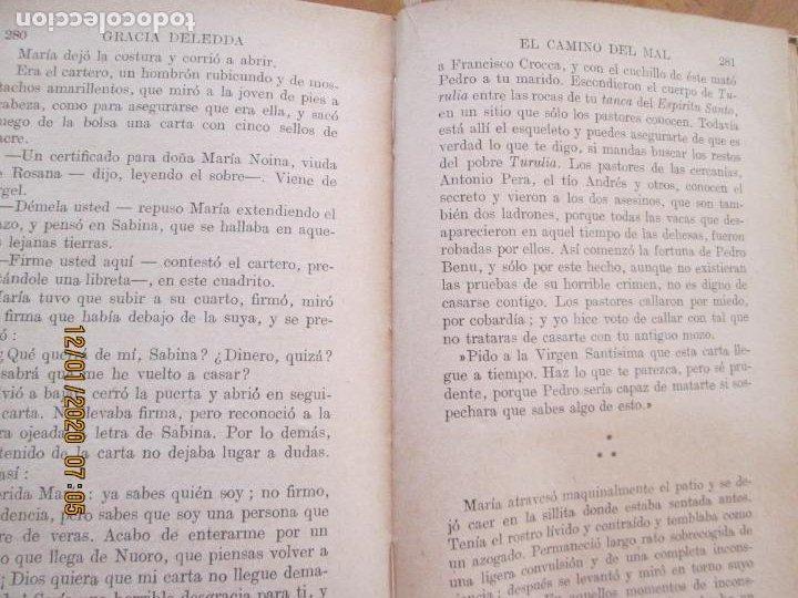 Libros de segunda mano: EL CAMINO DEL MAL - GRACIA DELEDDA - SOPENA - SIN FECHA - Foto 5 - 228509910