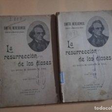 Libros de segunda mano: LA RESURRECCION DE LOS DIOSES. TOMO I Y II. DIMITRI MEREJKOWSKI. NOVELA DE LEONARDO DA VINCI.. Lote 228966851