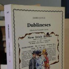Libri di seconda mano: DUBLINESES - JAMES JOYCE. Lote 229194995