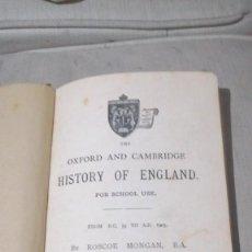 Libros de segunda mano: LIBRO ANTIGUO THE OSFORD A CAMBRIDGE. ENGLISH HISTORY. Lote 230061640