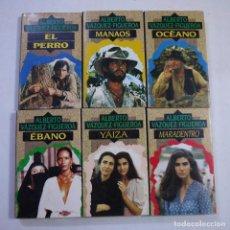 Libros de segunda mano: LOTE DE 6 LIBROS: EL PERRO, MANAOS, OCÉANO, YAIZA, EBANO Y MAR ADENTRO - ALBERTO VÁZQUEZ-FIGUEROA. Lote 224373202