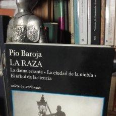 Libri di seconda mano: PIO BAROJA: LA RAZA. LA DAMA ERRANTE. LA CIUDAD DE LA NIEBLA. EL ARBOL DE LA CIENCIA, (TUSQUETS).. Lote 232886280