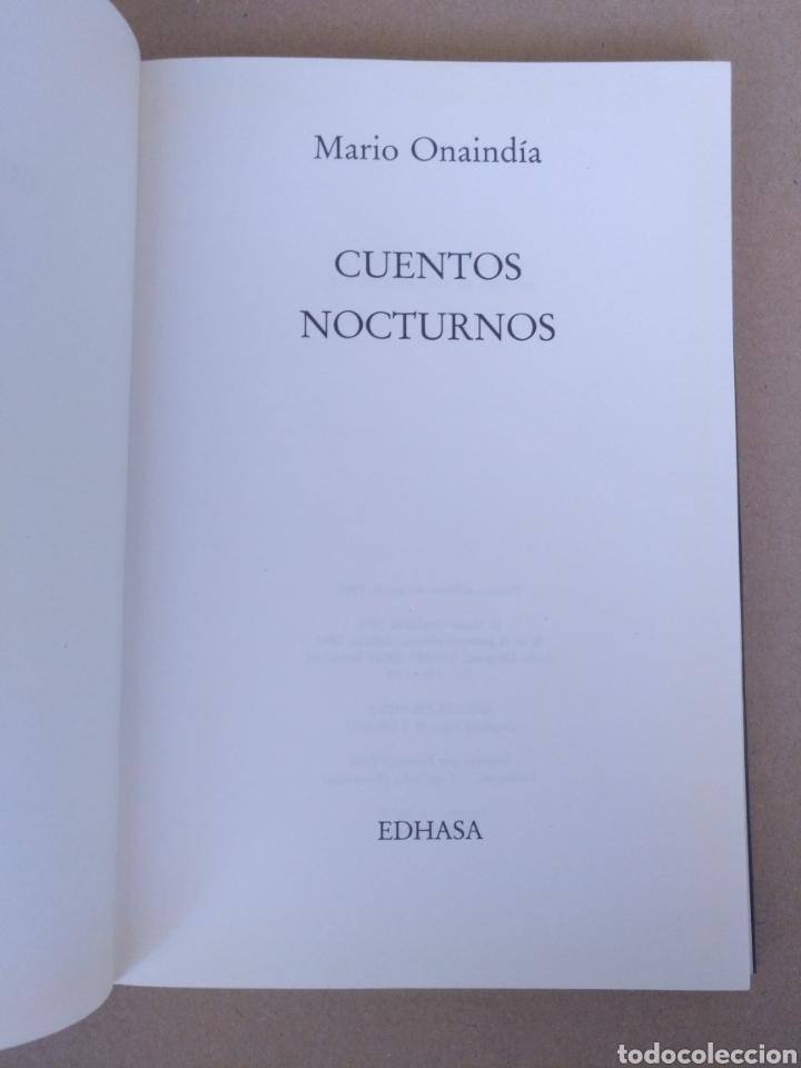Libros de segunda mano: Cuentos nocturnos. Mario Onaindía. Edhasa. Libro - Foto 2 - 232977740