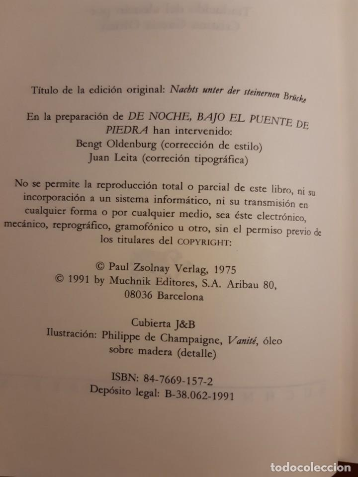 Libros de segunda mano: De noche bajo el puente de piedra Leo Perutz - Foto 2 - 233946085