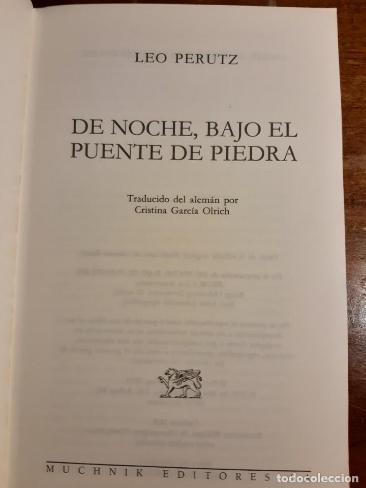 Libros de segunda mano: De noche bajo el puente de piedra Leo Perutz - Foto 5 - 233946085