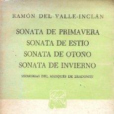 Libros de segunda mano: SONATAS, RAMÓN DEL VALLE INCLÁN. Lote 234099460