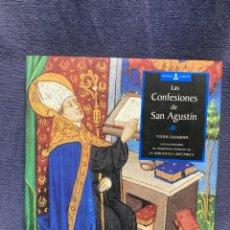 Libros de segunda mano: LAS CONFESIONES DE SAN AGUSTÍN CON ILUSTRACIONES DE MANUSCRITOS MEDIEVALES DE BIBLIOTECA BRITÁNICAS. Lote 234518585
