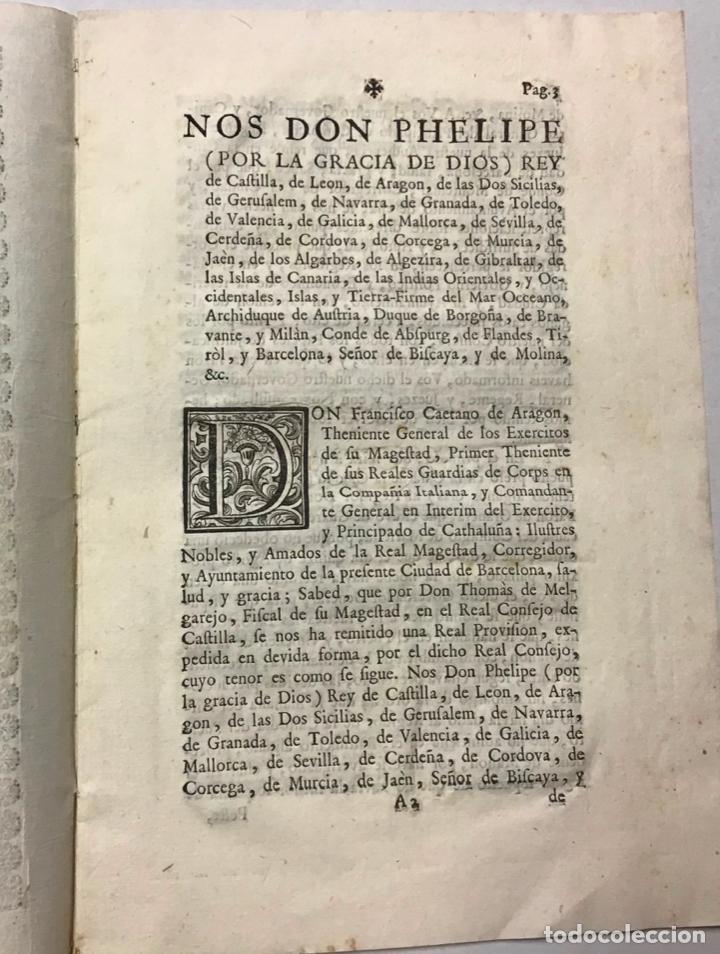 Libros de segunda mano: FELIPE V. GOVIERNO POLITICO, Y ECONOMICO DE ESTA CIUDAD DE BARCELONA - Foto 2 - 234840145