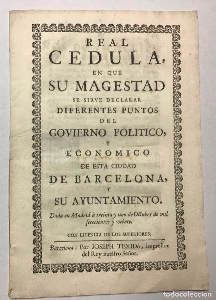 FELIPE V. GOVIERNO POLITICO, Y ECONOMICO DE ESTA CIUDAD DE BARCELONA (Libros de Segunda Mano (posteriores a 1936) - Literatura - Narrativa - Otros)