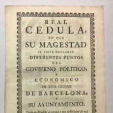 Libros de segunda mano: FELIPE V. GOVIERNO POLITICO, Y ECONOMICO DE ESTA CIUDAD DE BARCELONA. Lote 234840145