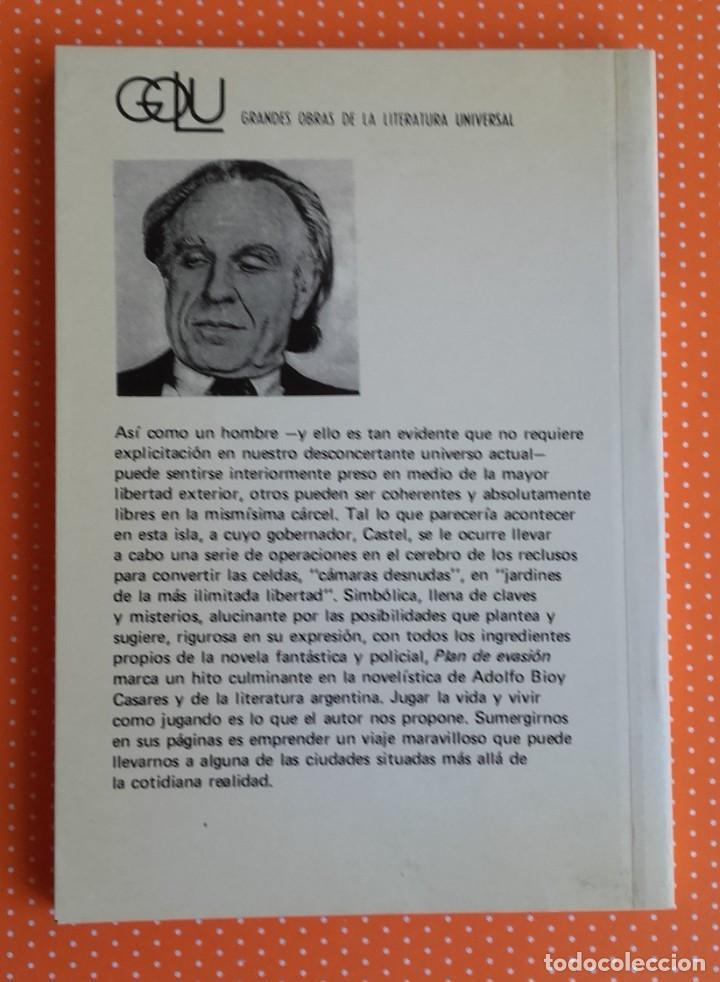 Libros de segunda mano: PLAN DE EVASIÓN. BIOY CASARES. KAPELUSZ. 1974. BUENOS AIRES. ED. ALBERTO MANGUEL. - Foto 2 - 234916580