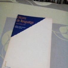 Libros de segunda mano: RES/LIBRO CATALÁN LLIÇONS DE LLENGUATGE /MIDE APROX13X21CM/TIENE 96 PAGINAS. Lote 234948960