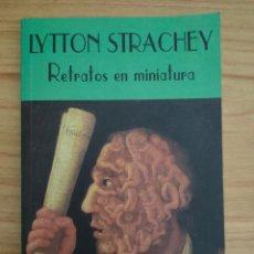 Libros de segunda mano: RETRATOS EN MINIATURA (LYTTON STRACHEY) VALDEMAR EL CLUB DIÓGENES Nº 79. Lote 235203845