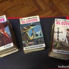 Libros de segunda mano: EL COYOTE. J. MALLORQUI. EDICIONES BRUGUERA. 43 EJEMPLARES. AÑO 68. Lote 236600025