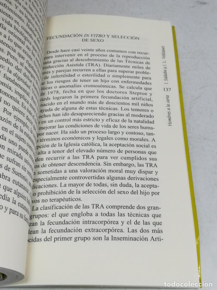 Libros de segunda mano: HOMBRES A LA CARTA. LOS DILEMAS DE LA BIOÉTICA. JAVIER SABADA / J.L. VELÁZQUEZ. TEMAS DE HOY. 183 PG - Foto 2 - 236629940