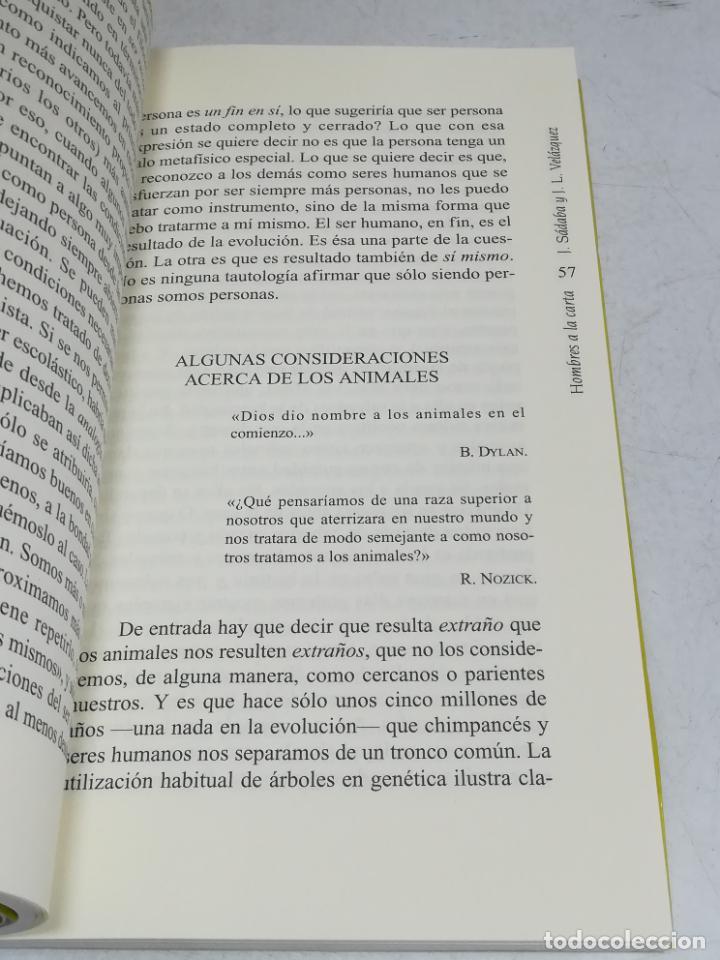Libros de segunda mano: HOMBRES A LA CARTA. LOS DILEMAS DE LA BIOÉTICA. JAVIER SABADA / J.L. VELÁZQUEZ. TEMAS DE HOY. 183 PG - Foto 3 - 236629940