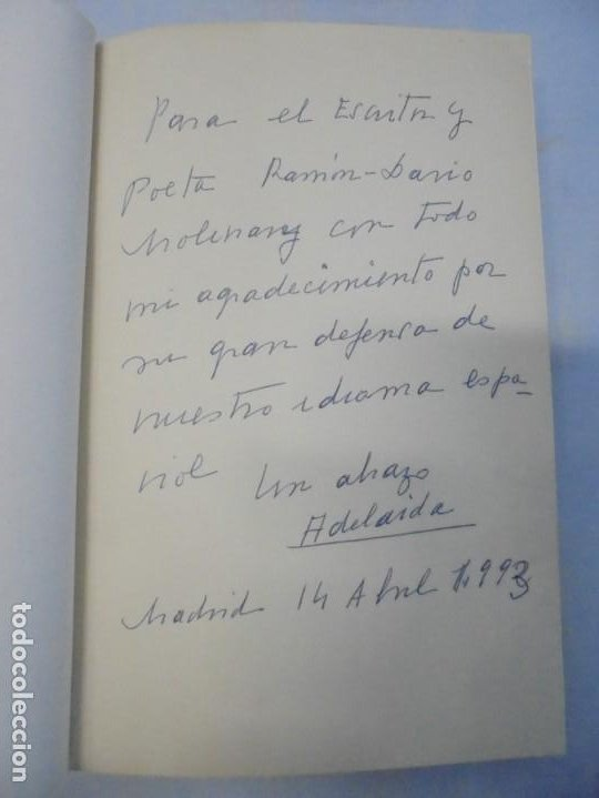 Libros de segunda mano: POETAS DE CAFE. (NOVELA). ADELAIDA LOS SANTOS. DEDICADO POR AUTORA. EDITORIAL AGUACANTOS 1992 - Foto 7 - 236761985