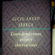 Libros de segunda mano: TESORO DE MÁXIMAS, AVISOS Y OBSERVACIONES. Lote 236764960