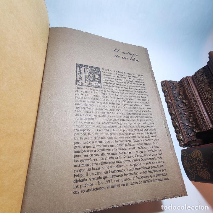 Libros de segunda mano: Don quijote de la mancha. Miguel de Cervantes. Edición Fascimil de 1605 y 1615. - Foto 3 - 236968975
