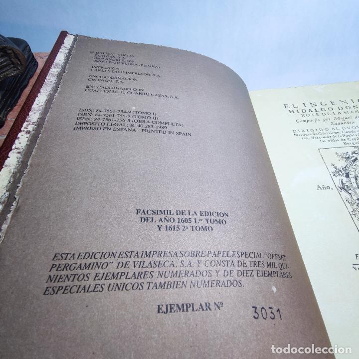 Libros de segunda mano: Don quijote de la mancha. Miguel de Cervantes. Edición Fascimil de 1605 y 1615. - Foto 4 - 236968975