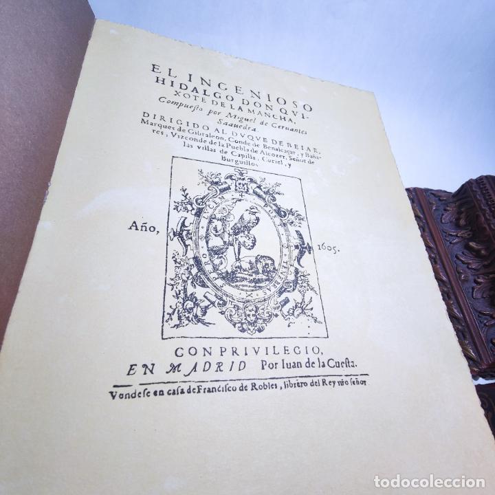 Libros de segunda mano: Don quijote de la mancha. Miguel de Cervantes. Edición Fascimil de 1605 y 1615. - Foto 5 - 236968975