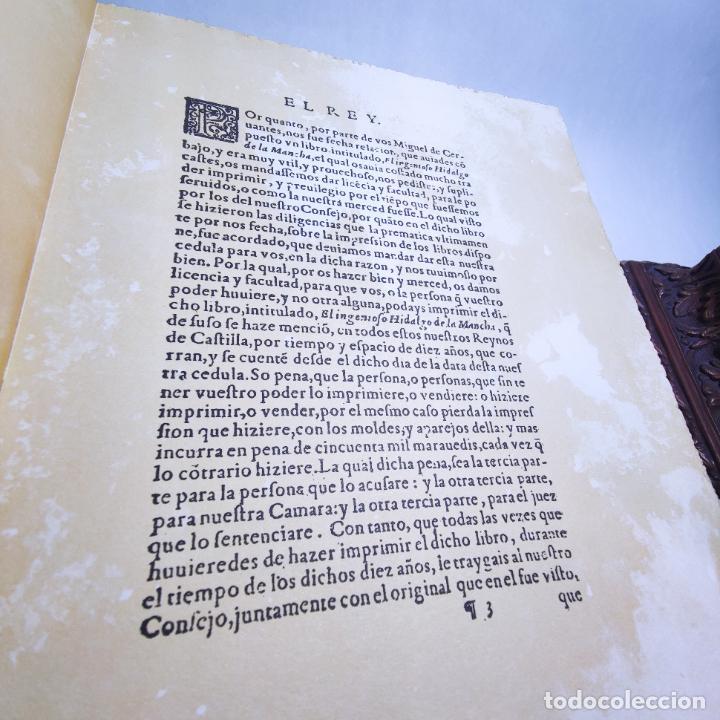 Libros de segunda mano: Don quijote de la mancha. Miguel de Cervantes. Edición Fascimil de 1605 y 1615. - Foto 6 - 236968975