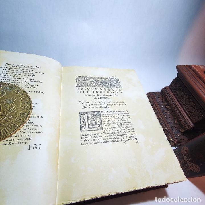 Libros de segunda mano: Don quijote de la mancha. Miguel de Cervantes. Edición Fascimil de 1605 y 1615. - Foto 7 - 236968975