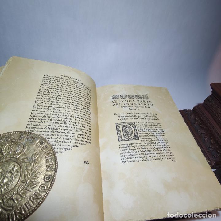 Libros de segunda mano: Don quijote de la mancha. Miguel de Cervantes. Edición Fascimil de 1605 y 1615. - Foto 8 - 236968975