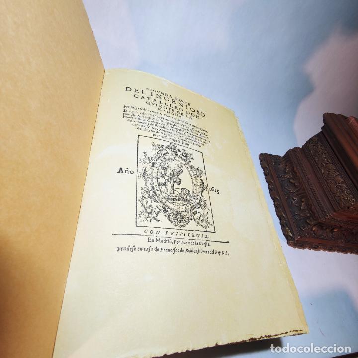 Libros de segunda mano: Don quijote de la mancha. Miguel de Cervantes. Edición Fascimil de 1605 y 1615. - Foto 12 - 236968975