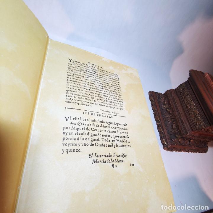 Libros de segunda mano: Don quijote de la mancha. Miguel de Cervantes. Edición Fascimil de 1605 y 1615. - Foto 13 - 236968975
